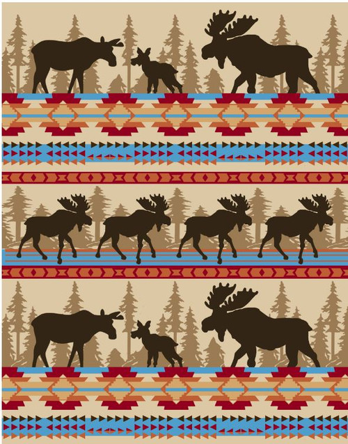 Cabin Fever Moose Family Blanket