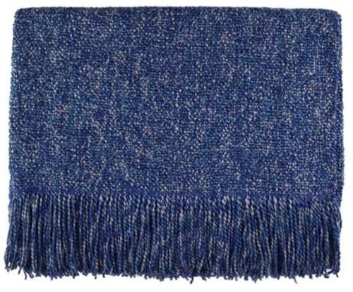 Kennebunk Home Melange Steel Blue Acrylic Throw