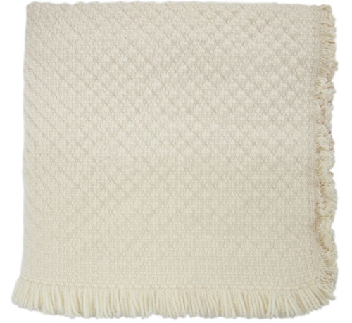 Kennebunk Home Kensington Natural Throw Blanket made in USA