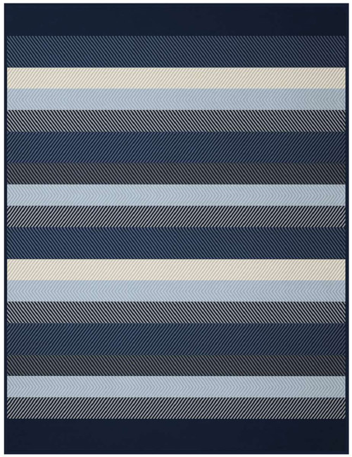 Blue Stripe Blanket by Biederlack