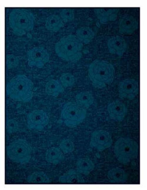 Dark Velvet Peony Blanket by Biederlack