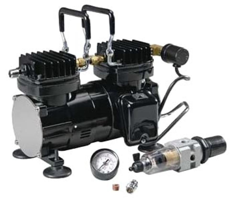 Paasche DA400R Airbrush Tanning Compressor with Regulator 1/6HP