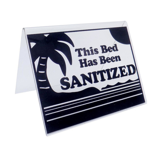 Sanitized Acrylic Bed Sign