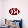 Personalized Wooden Football Cutout