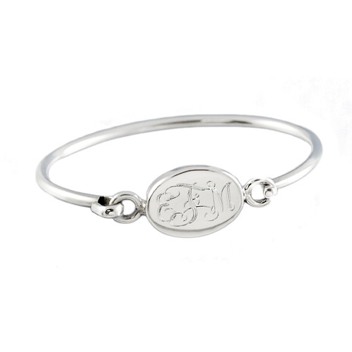 Personalized Oval Baby Bangle