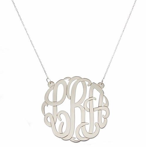 Personalized Large Script Cutout Necklace