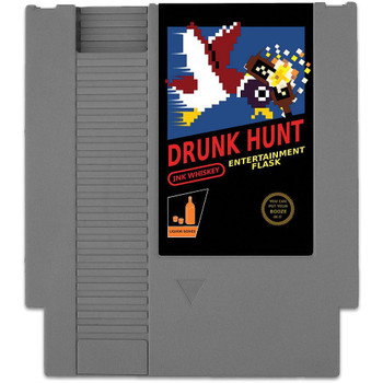CONCEALABLE ENTERTAINMENT FLASK - DRUNK HUNT