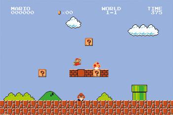 Super Mario Bros. – Level 1-1 Poster