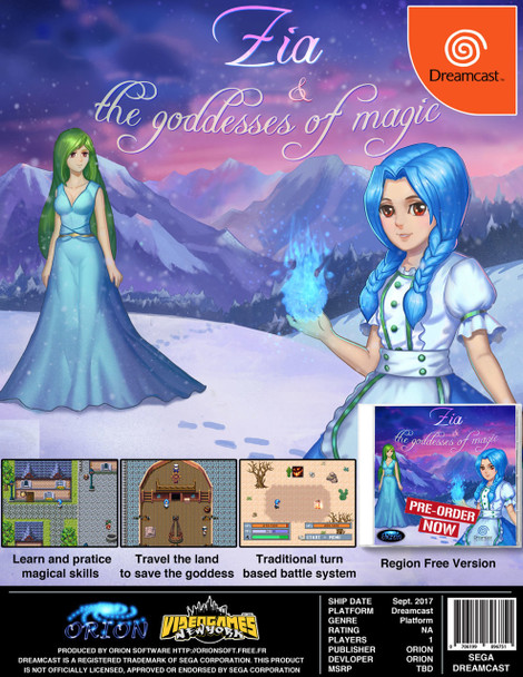 Zia and the Goddess of Magic [USA VERSION]  [Independent Dreamcast Game]