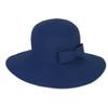 NAVY, FOLDABLE HAT W/BOW TRIM
