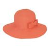 SALMON, FOLDABLE HAT W/BOW TRI