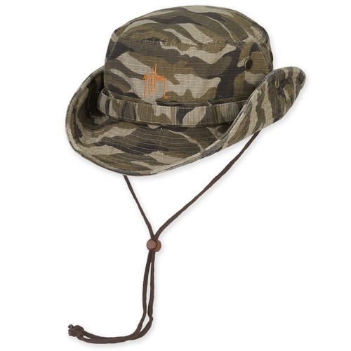 GUY HARVEY COTTON HAT W/CHIN CORD DRAWSTRING CAMO - BRIM - 3""