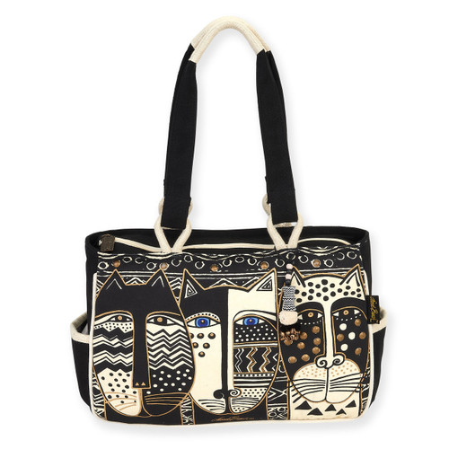 "WILD CAT BLACK & WHITE | Medium TOTE | 14.5"" X 4.5"" X 10"""