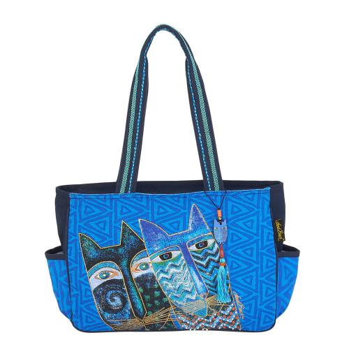"Blue Cats Medium Tote | 14.5""x 4.5""x 10"""