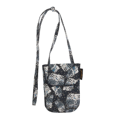"Polka Dot Cats Flapover Crossbody | 4.5""x 6.25"""
