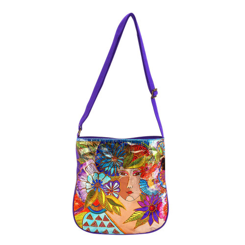 "Blossoming Woman Crossbody | 12""x 12.5""x 2"""