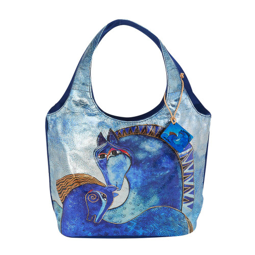 """Teal Mares Small Scoop Tote 
