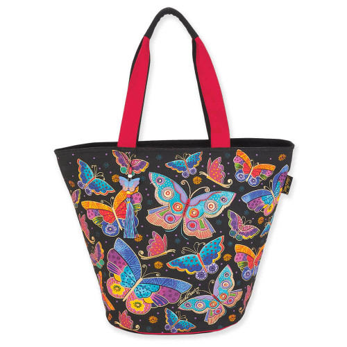 "Butterflies Shoulder Tote | 21""x 15""x 7.5"""