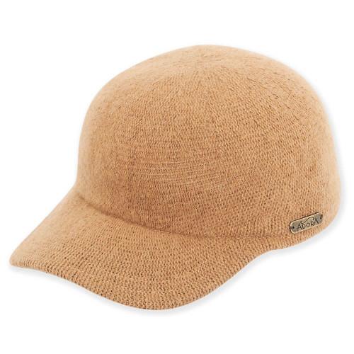 Jora Soft Wool Baseball Cap| Camel