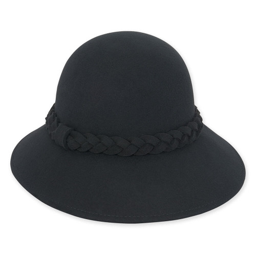 Wool felt Cloche I Black