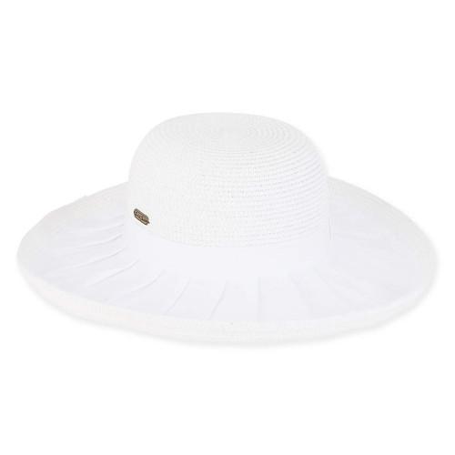 SKYLER COTTON HAT W/RAFFIA