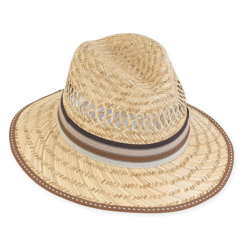 RYAN MATT STRAW HAT, BRIM 3""