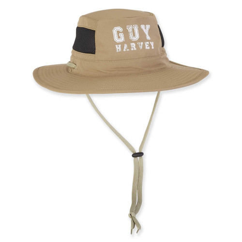 GUY HARVEY POLY HAT W/SIZER & DRAWST CHIN CORD
