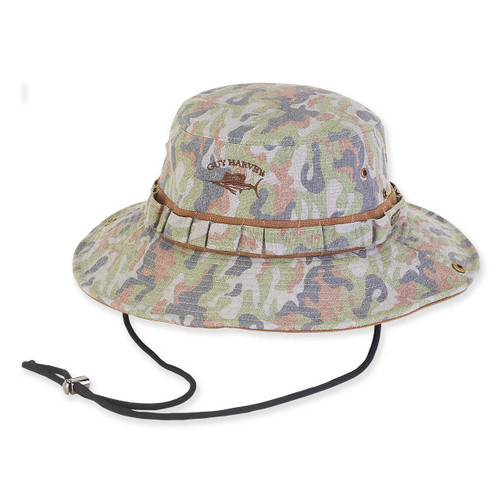 GUY HARVEY COTTON CAMO HAT W/SNAP UP BRIM