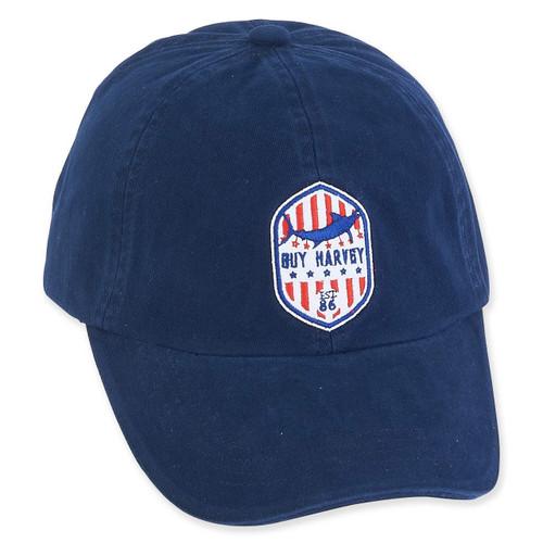 GUY HARVEY COTTON CAP RED WHITE BLUE SIGNATURE ICON