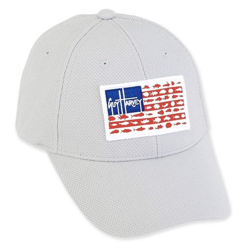 GUY HARVEY COTTON CAP RED WHITE BLUE SIGNATURE FLAG ICON