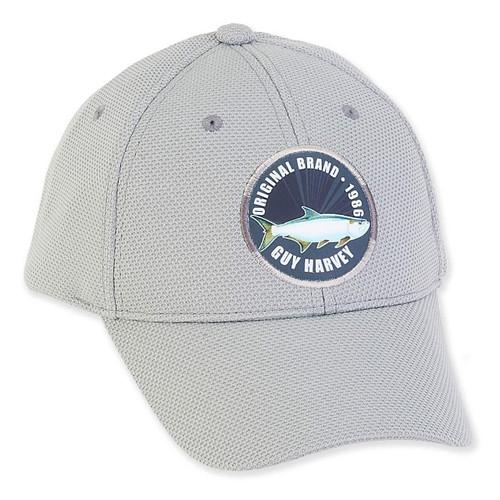GUY HARVEY COTTON CAP WITH SIGNATURE FISH PATCH