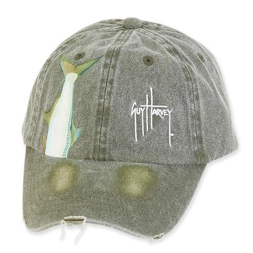 GUY HARVEY COTTON CAP WITH SIGNATURE & FISH TAILS