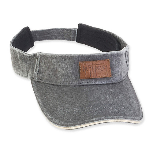 GUY HARVEY COTTON VISOR WITH SIGNATURE LEATHER PATCH