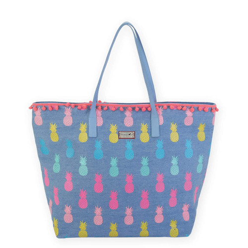 """PINEAPPLE SHOULDER TOTE 