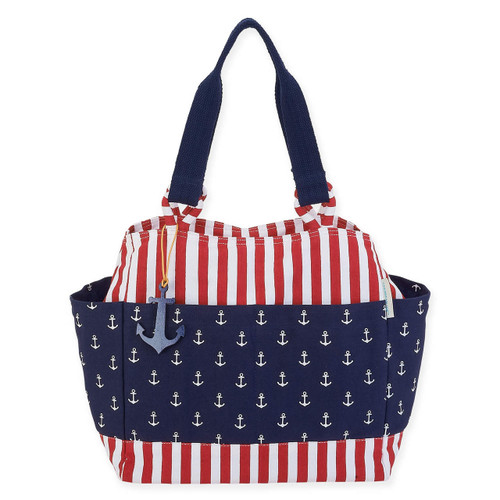 "ANCHORS AWAY SHOULDER TOTE | 13"" x 8"" x 14"""