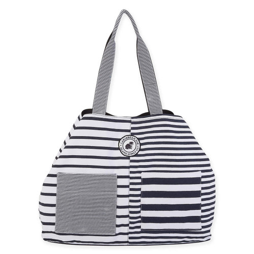 "STRIPE ON GAP TOTE | 25"" x 6"" x 15"" 
