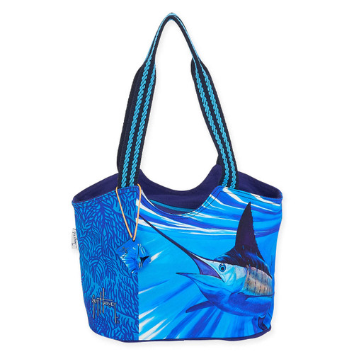 """ABSTRACT MARLIN MED SCOOP TOTE 