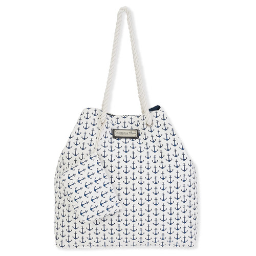 "ANCHORS AWAY GAP Tote & Cosmetic Bag | Magnetic Snap| 21.5""x 5.5""x 17.5"" 