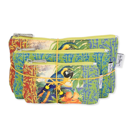 """G.H. PARROT PALACE 3-IN-1 COSMETIC BAG 