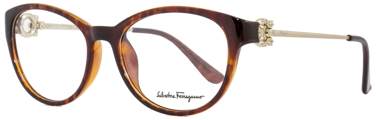 Salvatore Ferragamo Oval Eyeglasses SF2704R 214 Size: 53mm Tortoise 2704