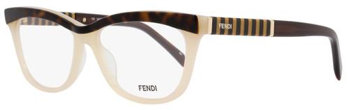 Fendi Oval Eyeglasses F1030 214 Size: 52mm Havana/Beige 1030