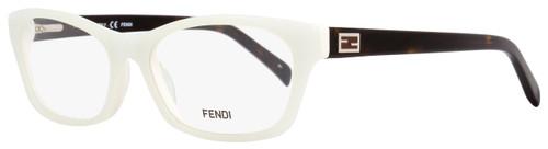 Fendi Rectangular Eyeglasses F1032 105 Size: 54mm White/Havana 1032