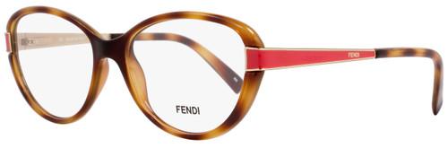 Fendi Oval Eyeglasses F1040 725 Size: 53mm Light Havana/Gold 1040