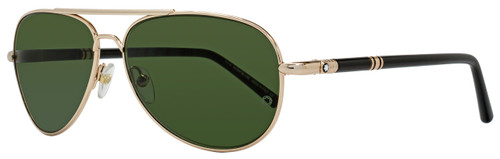 Montblanc Aviator Sunglasses MB509S 28N Rose Gold/Black 509