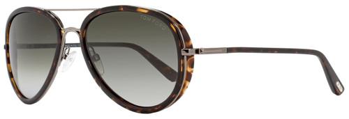 Tom Ford Aviator Sunglasses TF341 Miles 09P Gunmetal/Dark Havana FT0341