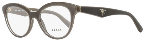 Prada Oval Eyeglasses VPR11R UAM-1O1 Size: 50mm Gray/Brown PR11RV