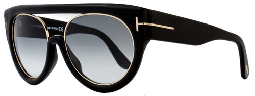 Tom Ford Oval Sunglasses TF360 Alana 01B Black/Rose Gold FT0360