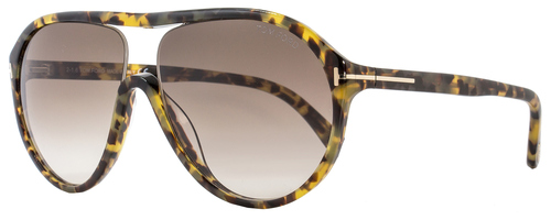 Tom Ford Aviator Sunglasses TF443 Edison 53F Tortoise FT0443