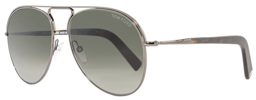 Tom Ford Aviator Sunglasses TF448 Cody 08B Gunmetal/Havana FT0448