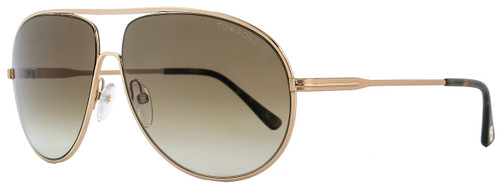 Tom Ford Aviator Sunglasses TF450 Cliff 28F Rose Gold/Havana FT0450